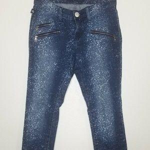 Rock & Republic Blue Splatter Banshee Jeans SZ 0